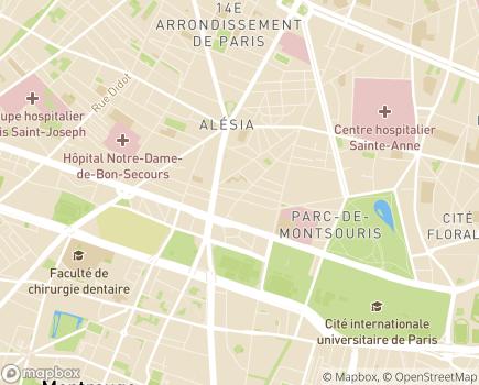 Localisation Résidence Autonomie Beaunier - 75014 - Paris 14