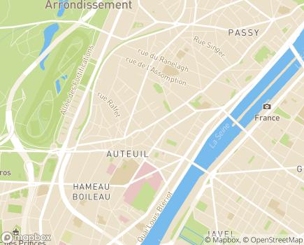 Localisation Résidence Mozart La Fontaine - 75016 - Paris 16