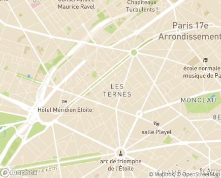 Localisation Résidences Services Les Ternes - 75017 - Paris 17