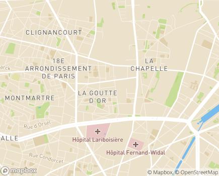 Localisation EHPAD Oasis - 75018 - Paris 18
