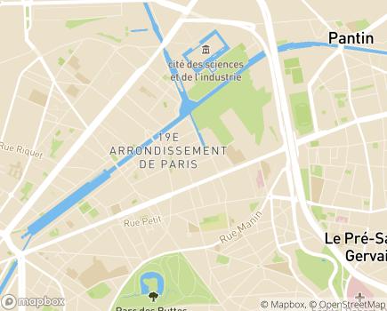 Localisation EHPAD Résidence Les Musiciens - 75019 - Paris 19