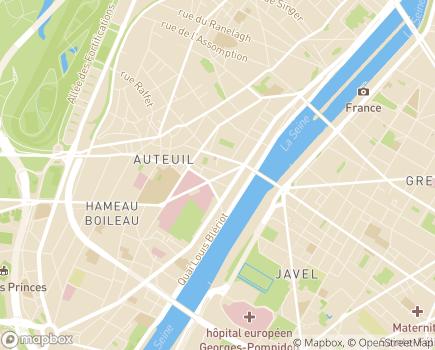 Localisation Résidence avec Services Les Hespérides Auteuil-Mirabeau - 75116 - Paris 16