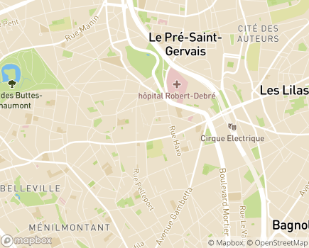 Localisation Foyer d'Hébergement Monténégro - 75019 - Paris 19