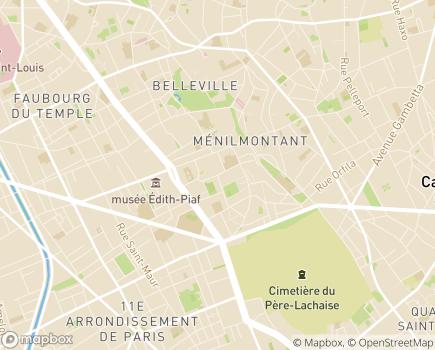 Localisation CAJ Ménilmontant - 75020 - Paris 20