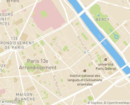 Localisation Foyer d'Hébergement et de Vie Michelle Darti 13 - 75013 - Paris 13