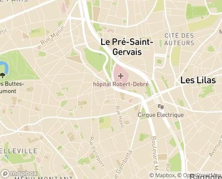 Localisation EHPAD Résidence Edith Piaf - 75019 - Paris 19
