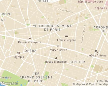 Localisation Centre d'action sociale Ville de Paris 9 - 75009 - Paris 09