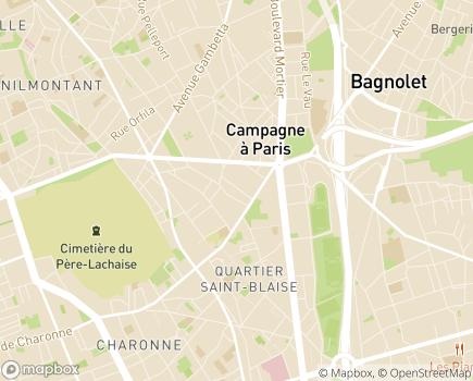 Localisation Service de Soins Infirmiers à Domicile ADMR 20 - 75020 - Paris 20