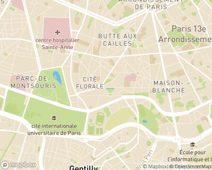 Localisation Service de Soins Infirmiers SSIAD ISATIS - 75013 - Paris 13