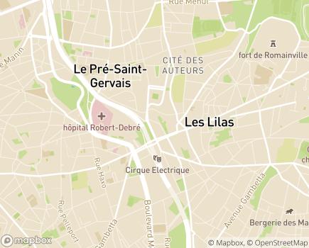 Localisation EHPAD Résidence Océane - 75019 - Paris 19