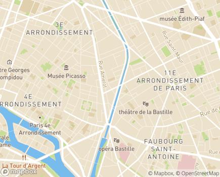 Localisation Relais Paris Nord - 75011 - Paris 11