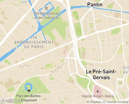 Localisation SSIAD Service de Soins Infirmiers à Domicile, GROUPE SOS Seniors - 75019 - Paris 19