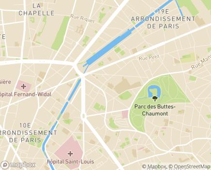 Localisation Maison du Partage - 75019 - Paris 19
