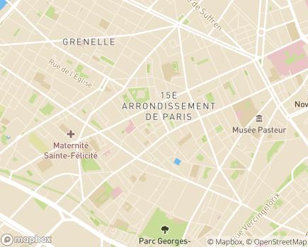 Localisation Foyer de Jeunes Filles Carcel - 75015 - Paris 15