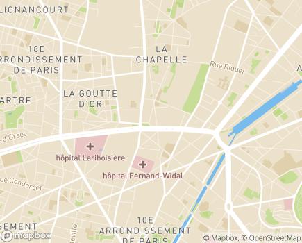 Localisation LADAPT Paris Adultes CAJ Centre d'Activités de Jour - 75018 - Paris 18