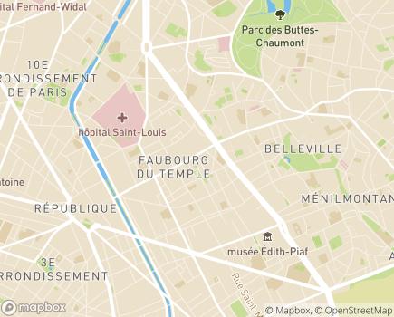 Localisation LADAPT Paris Adultes ESAT Hors Murs JAMO - 75011 - Paris 11