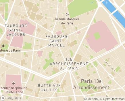 Localisation EHPAD Résidence Les Gobelins - 75013 - Paris 13