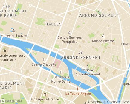 Localisation Conseil départemental de Paris - 75196 - Paris 04