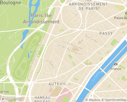 Localisation Groupe d'Entraide Mutuelle l'Alliance - 75016 - Paris 16