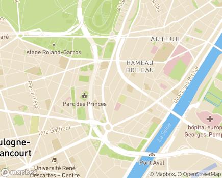 Localisation SAVS Gustave Beauvois - 75016 - Paris 16