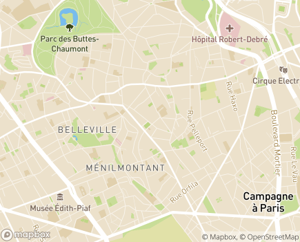 Localisation Centre d'Accueil de Jour APAJH Paris - 75020 - Paris 20