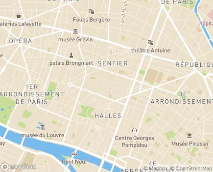Localisation La Clairière - 75002 - Paris 02