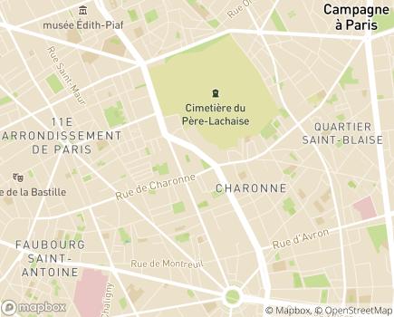 Localisation ENTR'AGES - 75011 - Paris 11
