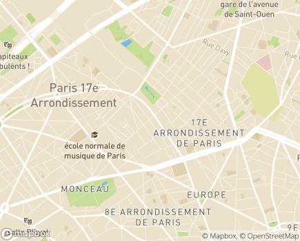 Localisation CASADOM - 75017 - Paris 17