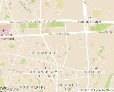 Localisation Les Compagnons du Voyage - 75018 - Paris 18