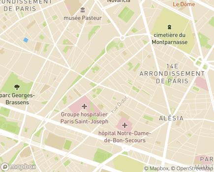 Localisation Les Centres de l'A.R.I.A. - 75014 - Paris 14