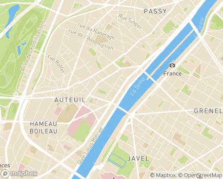 Localisation Oeuvre de l'Hospitalité du Travail, ESAT et Foyer d'hébergement - 75016 - Paris 16