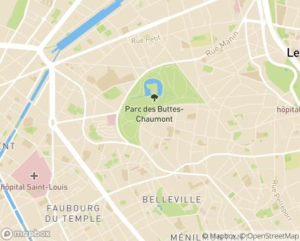Localisation Hospitalisation à Domicile Croix Saint-Simon - 75019 - Paris 19