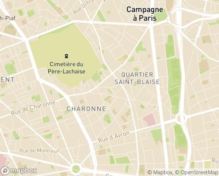 Localisation SSIAD 75 de la Croix Saint-Simon - 75020 - Paris 20