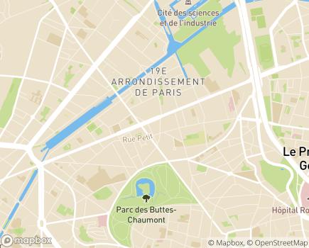 Localisation Auxiliadom - 75171 - Paris 19