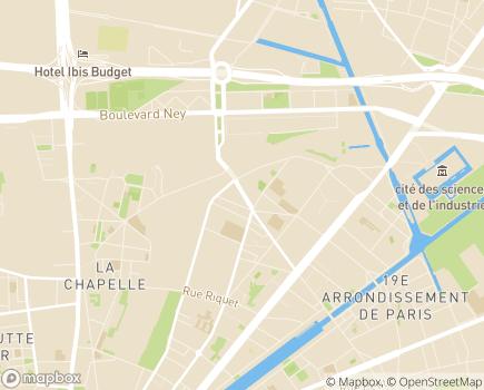 Localisation Centre Accueil de Jour  et SAMSAH Pont de Flandre - 75019 - Paris 19