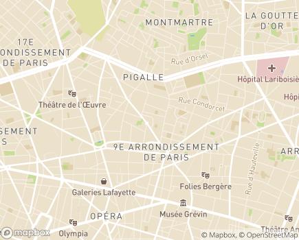 Localisation Aide à Domicile aux Familles ADAF de Paris - 75009 - Paris 09