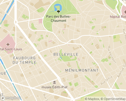 Localisation Maison d'Accueil Spécialisée Alain Raoul Mossé - 75020 - Paris 20
