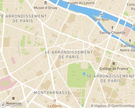Localisation Centre d'action sociale Ville de Paris 6 - 75006 - Paris 06