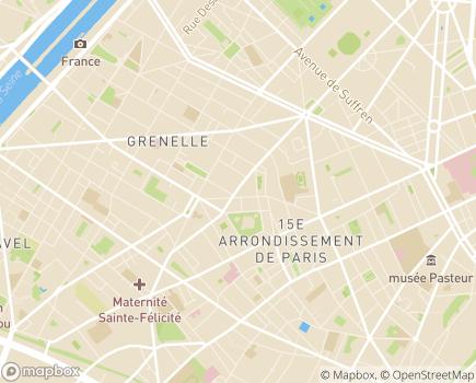 Localisation Maison d'Enfants à Caractère Social Croix Nivert - 75015 - Paris 15