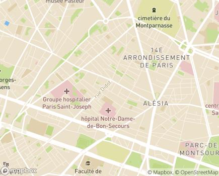 Localisation Paris Domicile Sud - Service d'Aide et de Soins à Domicile - 75014 - Paris 14