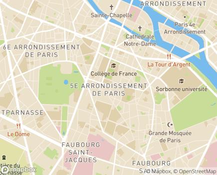 Localisation Paris Domicile Centre - Service d'Aide et de Soins à Domicile - 75005 - Paris 05