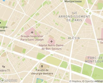 Localisation FAM Sainte Geneviève - 75014 - Paris 14