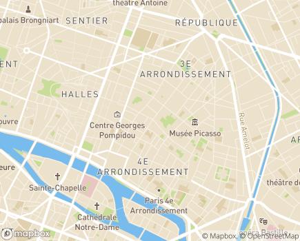 Localisation Association Présence à Domicile - 75004 - Paris 04