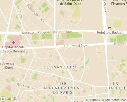 Localisation AFAD - Ile de France - 75018 - Paris 18