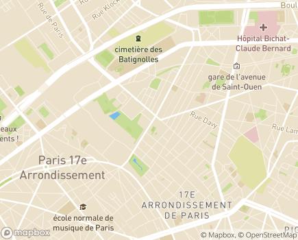 Localisation EHPAD Résidence Les Artistes de Batignolles - 75017 - Paris 17