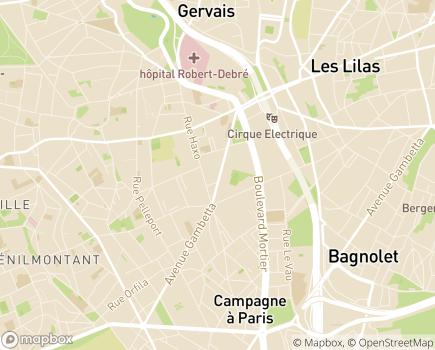 Localisation Association CBE Confort et Bien-Etre - 75020 - Paris 20