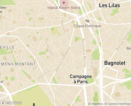 Localisation EHPAD Repotel Gambetta - 75020 - Paris 20