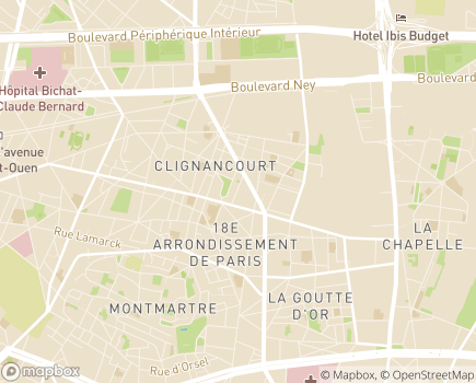 Localisation EHPAD Résidence Ornano - 75018 - Paris 18