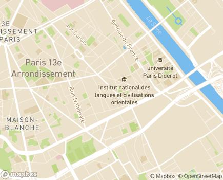 Localisation Maison d'accueil Clément Wurtz (Fondation Partage et Vie) - 75013 - Paris 13