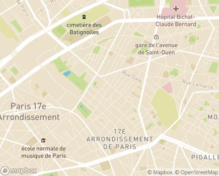 Localisation Azaé Paris 14 - 75017 - Paris 17